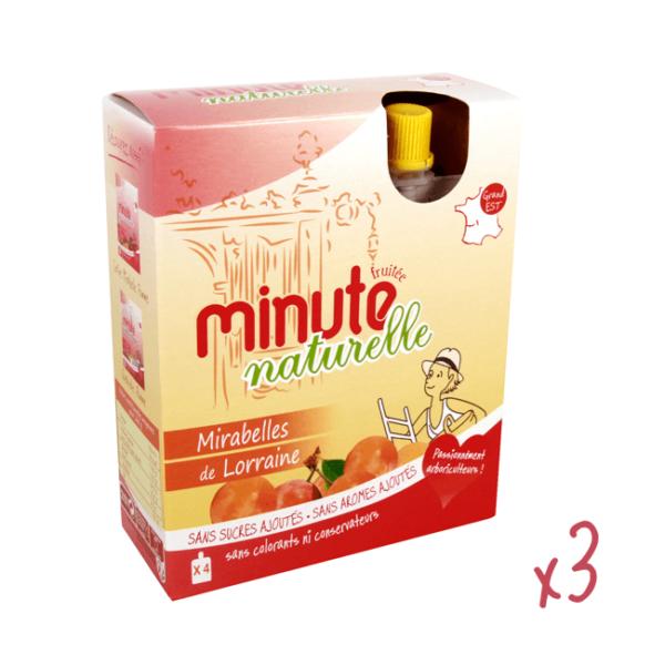 12 compotes en gourdes à la mirabelle, Minute Fruitée