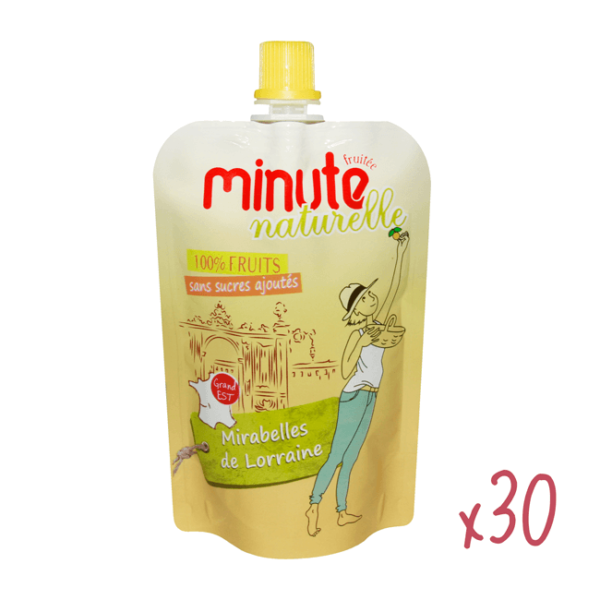 30 gourdes de compote à la mirabelle de Lorraine, Minute Fruitée